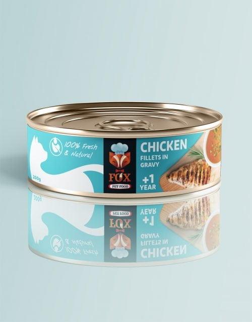 chicken fillets in gravy-tin-200g-front