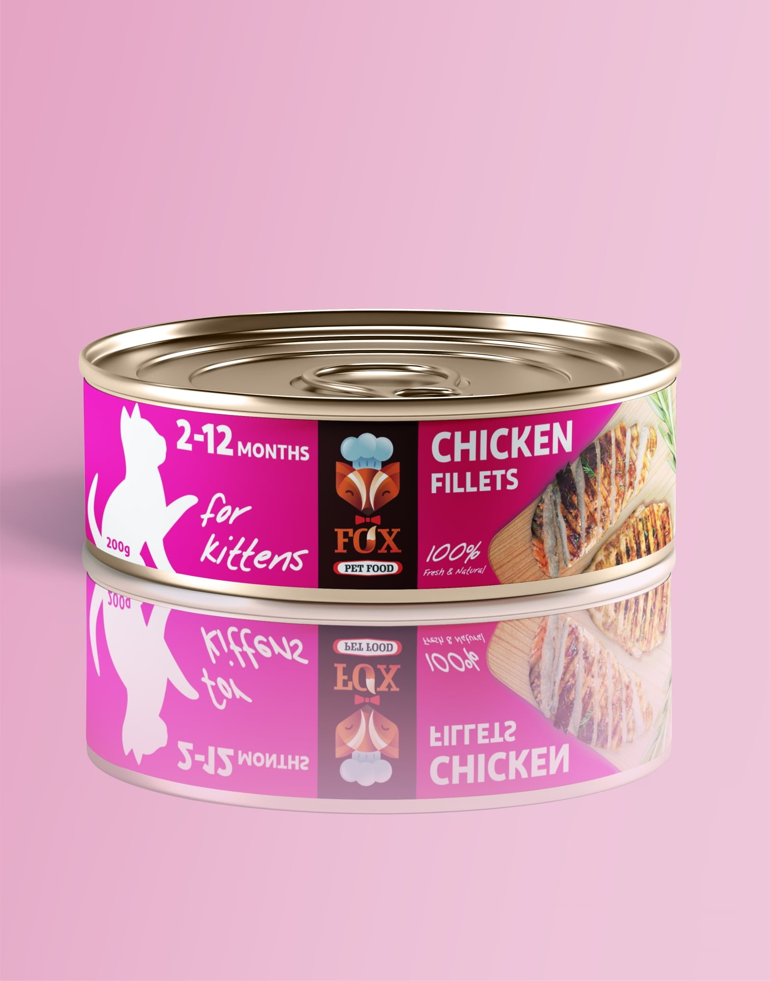 chicken fillets-tin-200g-for kittens-front