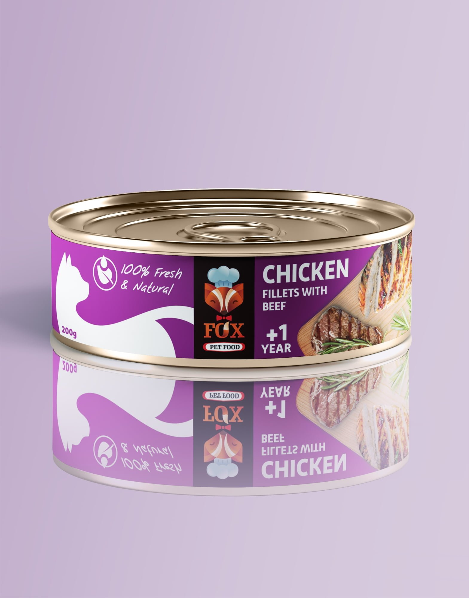 chicken fillets with beef-tin-200g-front