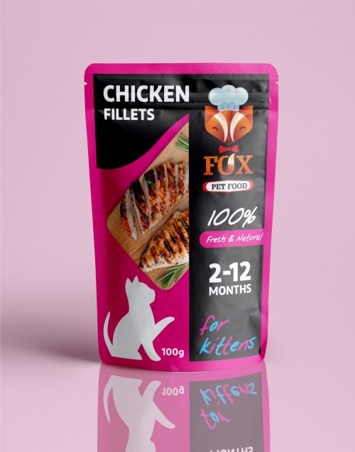 chicken fillets pouch-for kittens-front