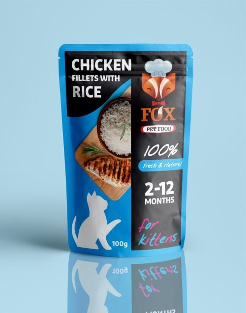 chicken fillets with rice pouch-for kittens-front