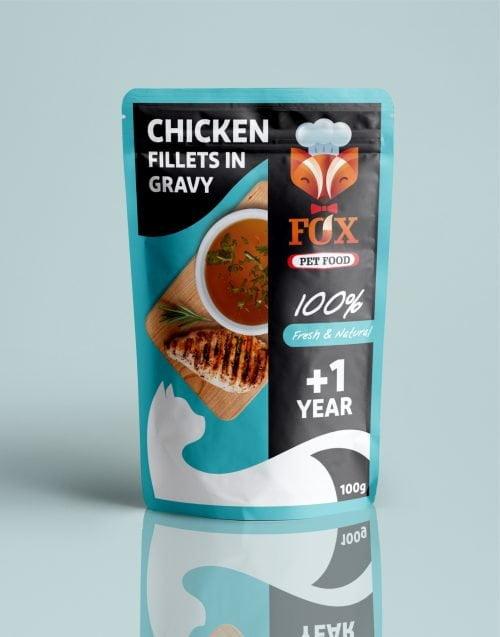 chicken fillets in gravy pouch-front