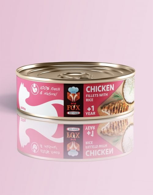 chicken fillets with rice-tin-200g-front