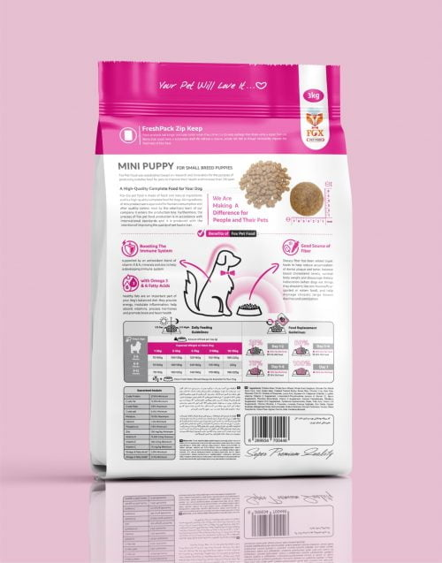 mini puppy-for small breed puppies-3kg-back