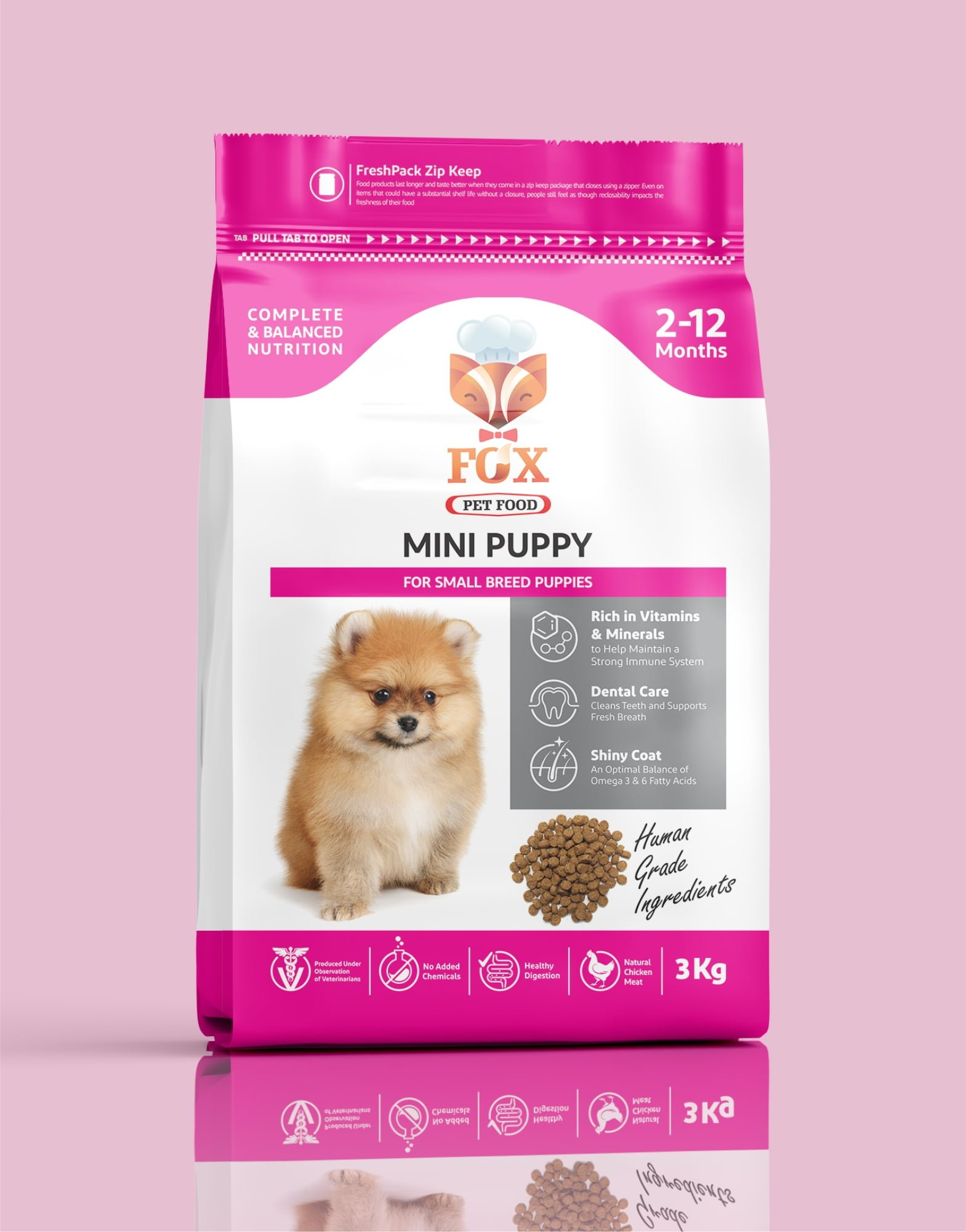 mini puppy-for small breed puppies-3kg-front